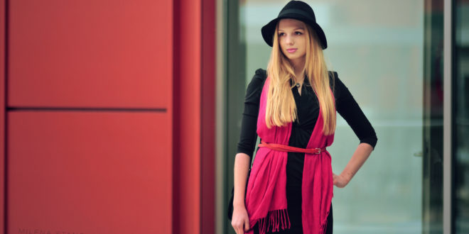 GOK WAN – elegancka, czarna sukienka